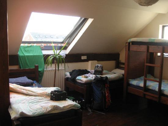 Aille River Hostel: Our bright room