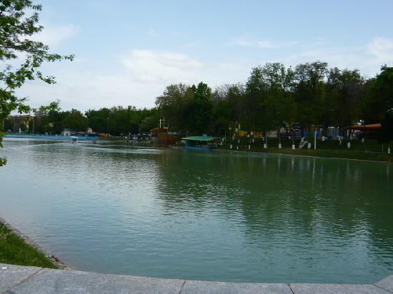 Taşkent, Özbekistan: ナヴォイ公園の大きな池