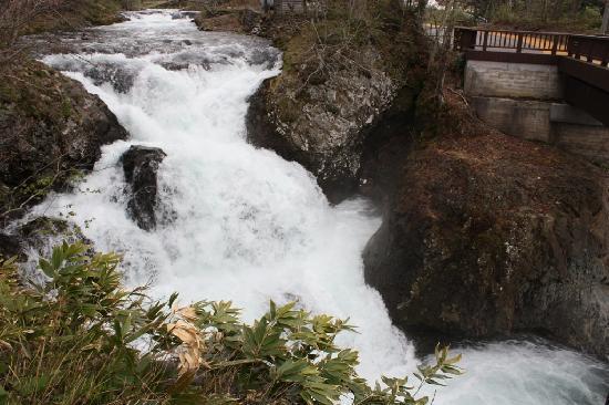 Date, Japan: 豪快な滝