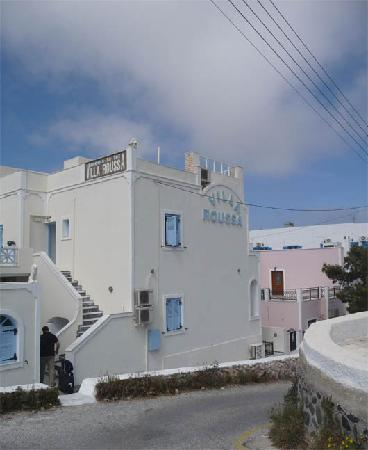 Outside of Villa Roussa building