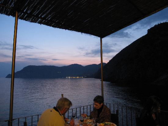 Belforte: View from our seat overlooking Monterosso in the background