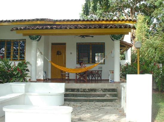 Las Sirenas de Santa Clara - Beach Front Cabins: Looking at our cabana top of hill