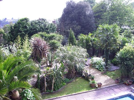 Cary Court Hotel: View of the garden from our balcony