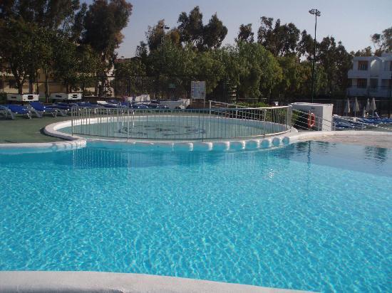 Jutlandia Family Resort: overlooking the pool....mmmmm lovely