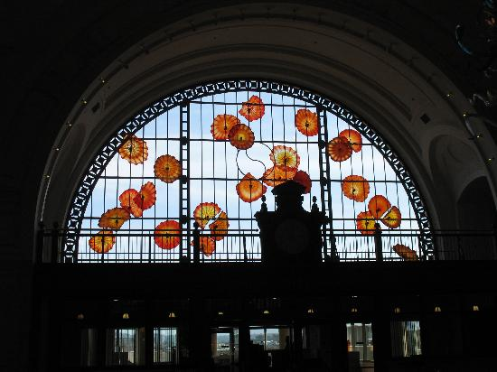 Union Station: Dale Chihuly piece on wall