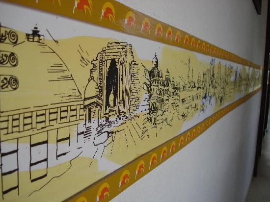 Hotel Palash Residency: Wall