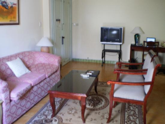 Petro House Hotel: The TV and Desk