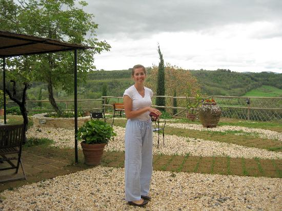 Torraccia di Chiusi: Our courtyard