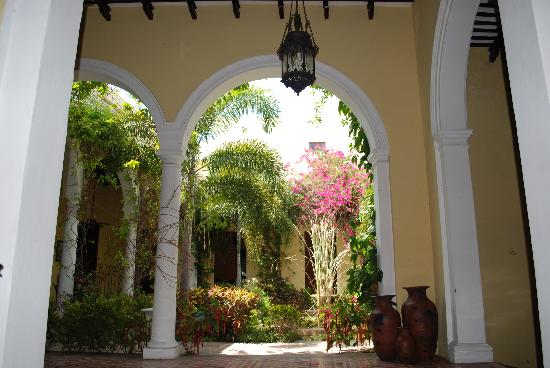 The Villa Merida: the view you get once the doors are opened