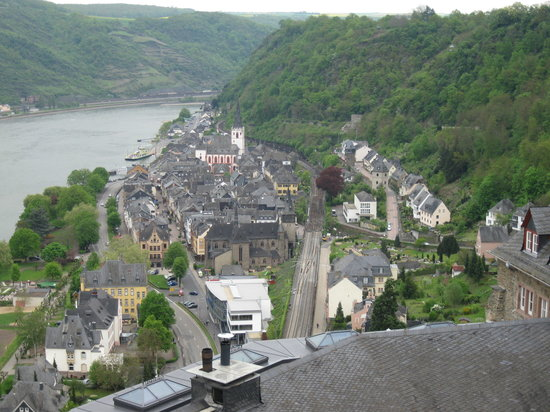 Loreley-Jugendherberge St. Goar: Town of St. Goar from Rheinfels Castle