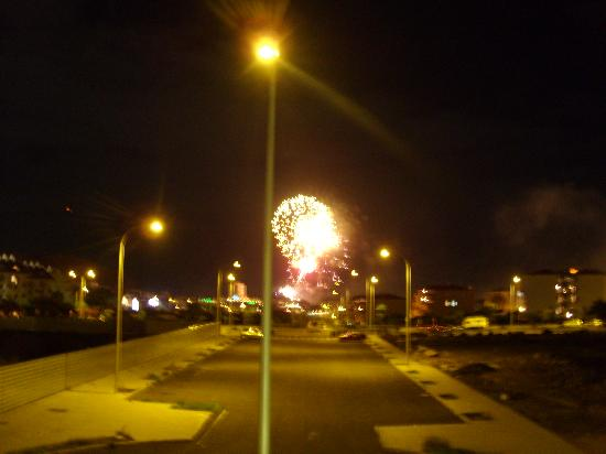 Ona Los Claveles: View of fireworks at New Year from Balcony