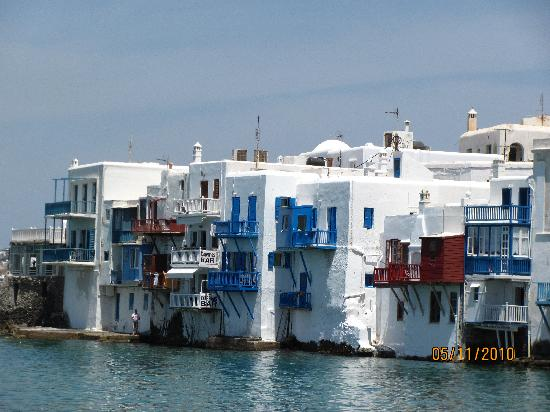 Mykonos, Grekland: other side of the town