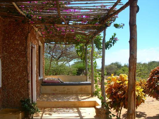 Lamu Island, Kenya: one of the houses' numerous sofas to lay down on