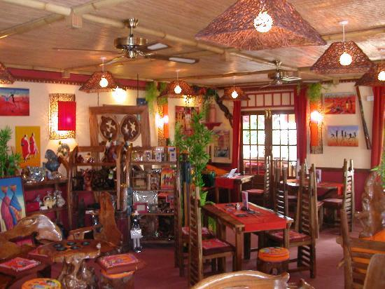 One World Cafe & Bistro: The amazing 'Global decor' at One World Cafe.