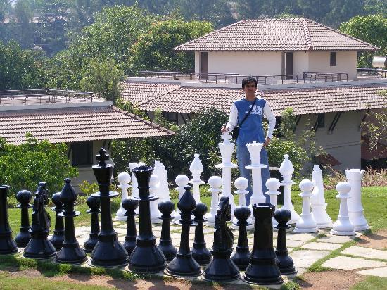 Club Mahindra Mari Coorg Life Size Chess Board