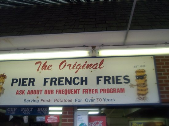 Pier French Fries: Pier Fries Aug 2008