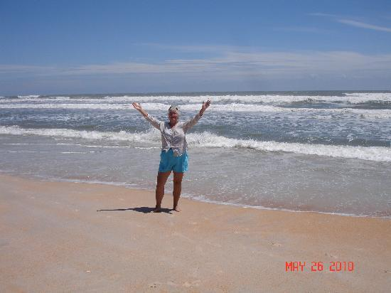 Saint Augustine Beach, FL: Me standing on St. Augustine Beach in Florida