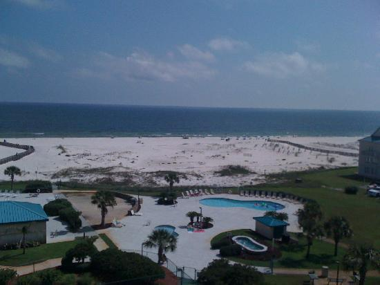 Gulf Shores Plantation : the view of the beach from the condo