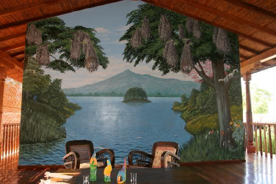 Miss Margrit's Guest House: Wallpainting