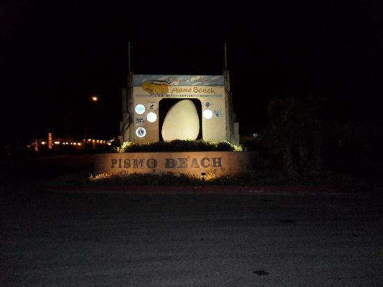 Pismo Beach Ca Sign At Night