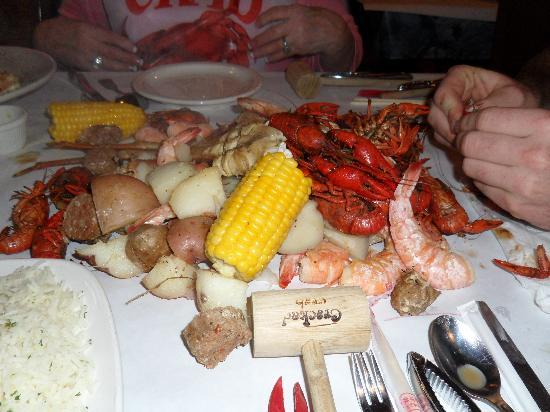Pismo Beach, CA: $68.00 for this food at the cracked crab