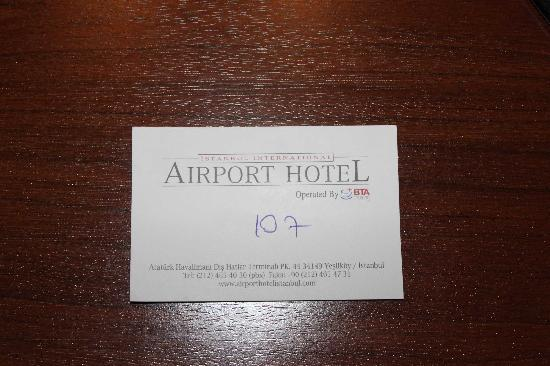 TAV Airport Hotel: where we were
