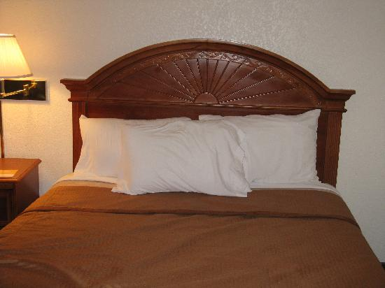 Tehachapi, CA: My bed. Wish there were decorative pillows on there too!