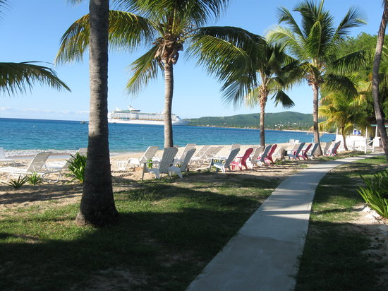 Cottages By The Sea: View of Frederiksted from the beach
