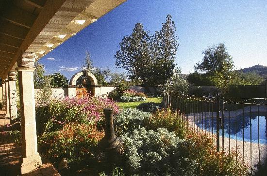 Hacienda Corona de Guevavi: Enjoy lush gardens....