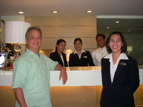 One Tagaytay Place Hotel Suites: The crew with the GM Mr, Karl Velhagen