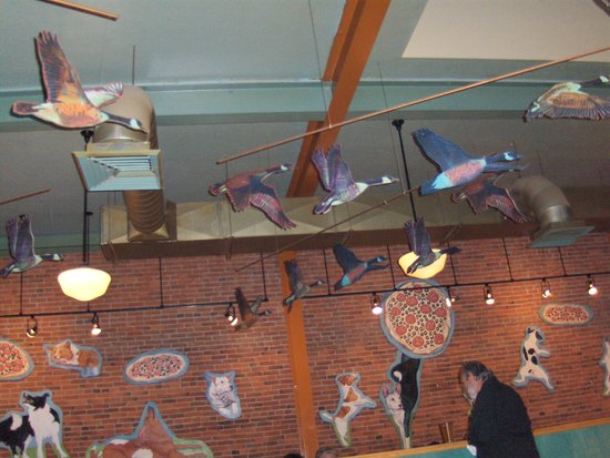 American Dream Pizza: The artwork on the ceiling as you enter Dream (2nd Street location)