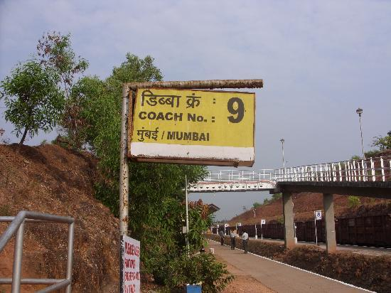Calangute, India: Thivim train station