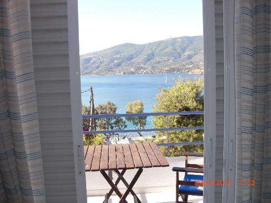 Poros, Greece: Christina balcony & view