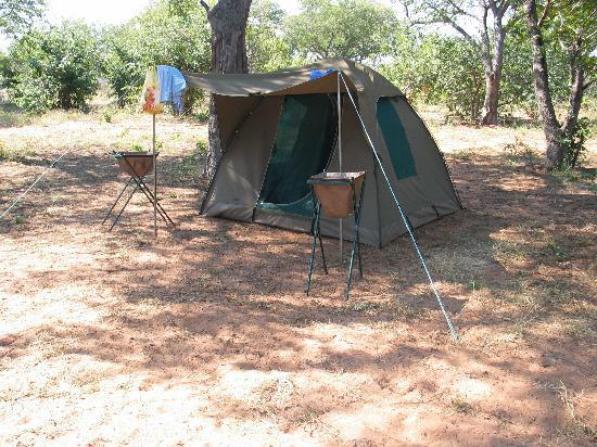 Kasane, Botsuana: Our tent