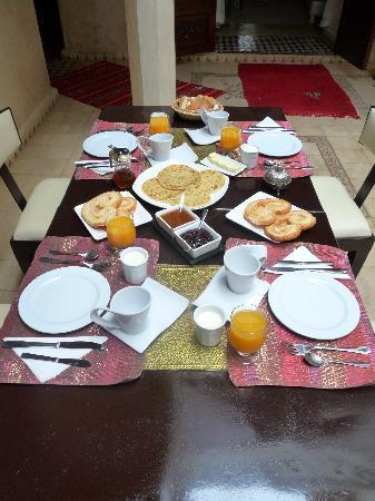 Riad Argan: Le petit-déjeuner