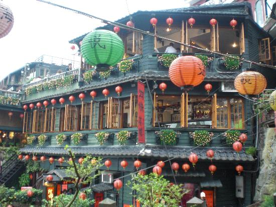 Taipéi, Taiwán: 九扮の街の一風景です!