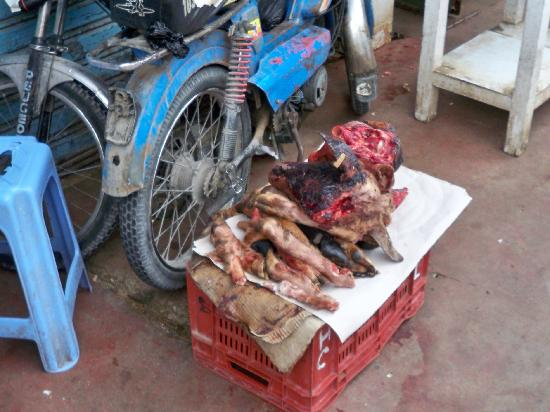 goats heads for sale at the medina - Picture of Hotel