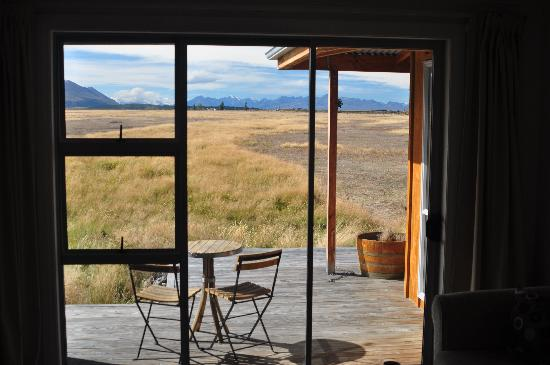 Twizel, Nueva Zelanda: View from B&B room