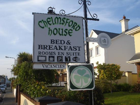 Chelmsford House: Sign outside house
