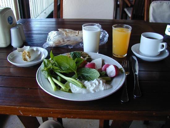 RestHouse : petit-déjeuner sur la terrasse à Tyre