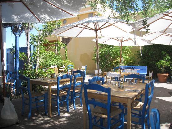 Outdoor dining area - Picture of Mandolin Aegean Bistro ...