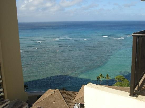 The Imperial Hawaii Resort at Waikiki: Beach view from 26th Floor owner's lounge