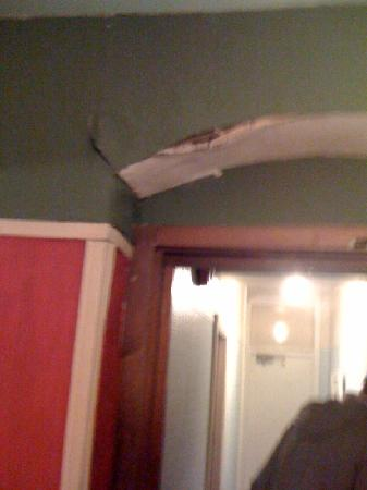 St, Winifred's Hotel: ceiling falling in on landing!