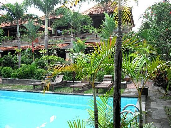 Dewa Bharata Ubud: garden and pool