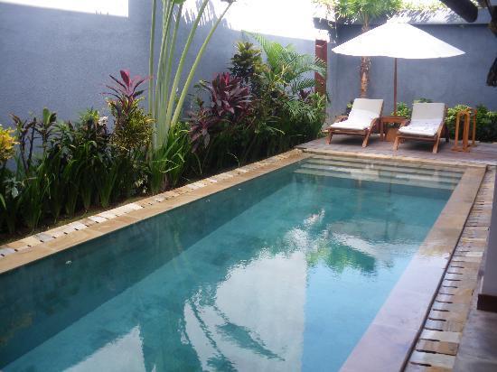 โรงแรมดาโนยา วิลล่า: Pool - day two bedroom