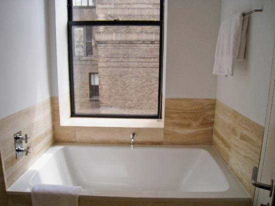 The Bryant Park Hotel: huge tub, no view