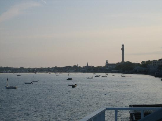 Watermark Inn: View of Ptown from the terrace