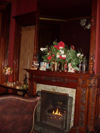 Harry Packer Mansion Inn: Reading Room Fireplace