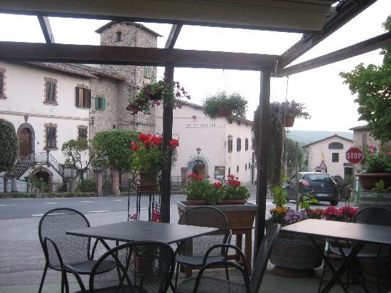 View of Relais Vignale from restaurant across the street
