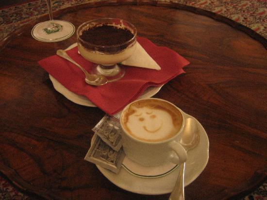 Relais Vignale: The cappuccino the hotel bartender made for me (made my night)!
